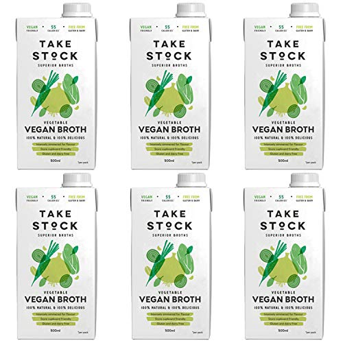 Gourmet Vegetable Broth | 100% Natural Vegan Bouillon | Gluten and Dairy Free | 6 x 500ml | Not from Concentrate