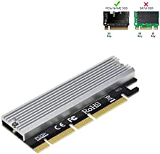 RA NVME PCIe x16 with Heat Sink, Full Speed M.2 SSD Key M to PCI Express Expansion Card, Support with 2230 2242 2260 2280, Compatible for Windows XP / 7/8 / 10
