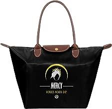 Mercy Heroes Never Die Ov-erwatch Waterproof Leather Folded Messenger Nylon Bag Travel Tote Hopping Folding School Handbags