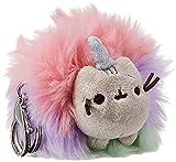 GUND Pusheen Rainbow Unicorn Cat Plush Pom Deluxe Keychain, 4'