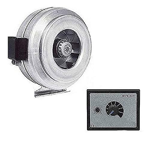 Uzman-Versand KF-250mm Industrie Rohrventilator und 500 Watt Drehzahlregler, Gebläse Ventilator Lüfter Kanal Rohr Kanalventilator Kanalgebläse Kanallüfter Rohrgebläse Rohrlüfter