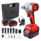 Impact Wrench With 2 Battery , KINGSHOWDEN 18V...