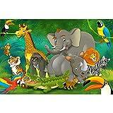 GREAT ART® XXL Poster Kinderzimmer – Dschungel Safari