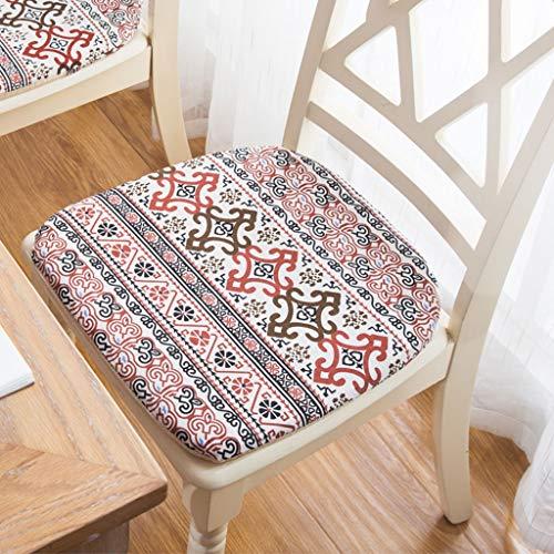 HYXXQQ Tuinstoel, zacht en dik stoelkussen, zitkussen, katoen, restaurant, keuken, kantoor
