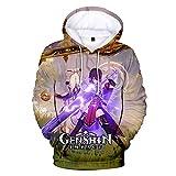 Updayday Genshin Impact Felpe con Cappuccio Unisxe Anime...