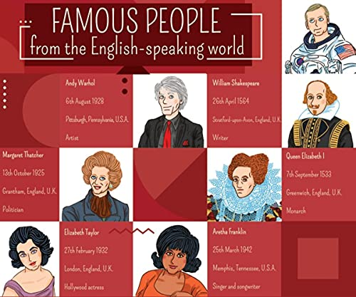 Famous People from The English-Speaking World. Gamebox mit 132 Karten + Download: Let's Play in English. Gamebox mit 132 Karten + Download