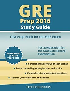GRE Prep 2016 Study Guide: Test Prep Book for the GRE Exam by GRE Test Prep Team (2015-12-08)