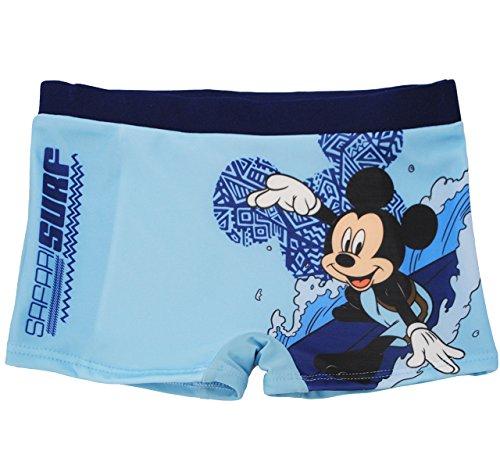 alles-meine.de GmbH Badehose / Badeshorts -  Disney Mickey Mouse / Maus  - Größe 4 bis 5 Jahre - Gr. 110 bis 116 - für Jungen Kinder Badepants - Boxershorts Shorts mit Bein - P..
