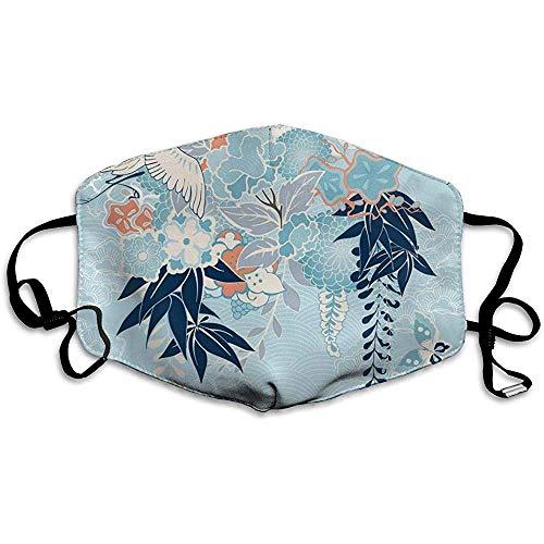 Japanisches Kimono-Motiv mit Kran und Blumen Komfortable Abdeckung, Universalabdeckung