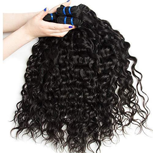 EMOL Hair 9A Fasci di Capelli Umani Naturali Morbido Capelli Brasiliani Vergini 3 Pacchi Totali 300 g 20 22 24 Pollici Brazilian Water wave Bundles Colore Nero Naturale Può Essere Tinto