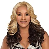 Vivica A. Fox NAPOLI-V New Futura Fiber, Deep Lace Front Wig in Color CABERNET