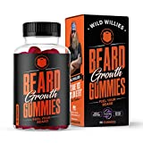 Beard Growth Gummies - Grow a Fuller & Thicker Beard Faster, Berry Blast Flavor - Formulated with Biositol Complex 1 Plus 19 Hair Growth Nutrients - (60 Capsules) Wild Willies