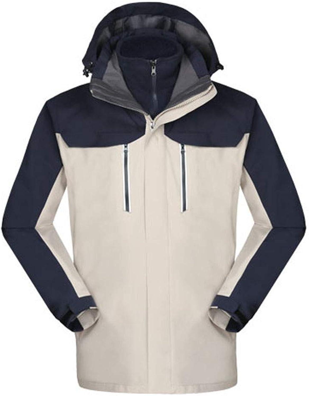 Fatchot Herren-Jacke aus Fleece, zweiteilig, wasserfest, Winddicht, mit Mehreren Taschen, Winter-Fleece