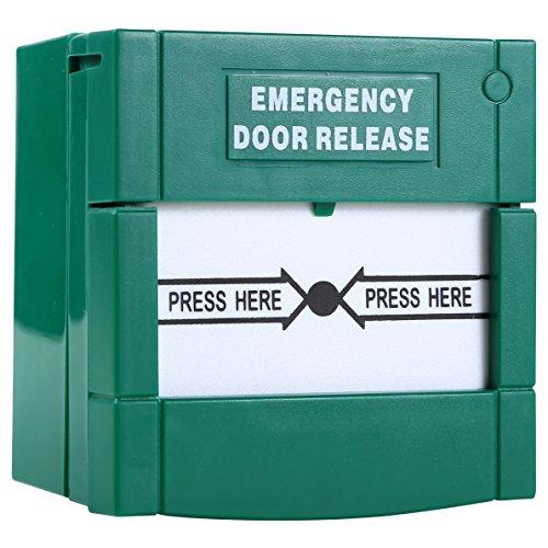 UHPPOTE Restablecible Break Cristal Vidrio Fuego Emergencia Salida Liberación Botón Para Puerta De Salida