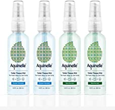 Aquinelle Toilet Tissue Mist - Value Pack of 4 Convenient 3.25oz Bottles - Non-Clogging Alternative to Flushable Wipes - Simply Spray On: Quilted Northern, Kleenex Or Any Folded Toilet Paper