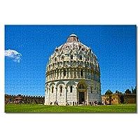 イタリア大人のためのピサ洗礼堂ジグソーパズル子供1000ピース木製パズル家の装飾