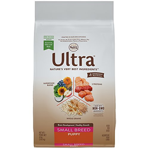 NUTRO ULTRA Small Breed Puppy Dry Dog Food (1) 8 lbs., Supports Brain Development; Rich in Nutrients and Full of Flavor For Small Breed Dogs