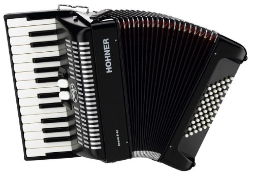 HOHNER BRAVO II 48 SCHWARZ Akkordeons Piano-Akkordeons