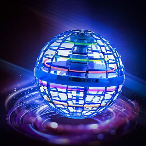 FLYNOVA PRO Fliegendes Spielzeug, Kugelform Magischer Controller Mini Drohne Flugspielzeuge Fliegender Spinner 360° Drehbare Rotierende LED Leuchten für Kinder Erwachsene