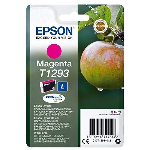 Epson Original T1293 Apfel Tinte (SX420W BX320FW SX620FW BX/SX525WD BX625FWD BX305FW B42WD BX925FWD BX635FWD BX535WD SX435/440W BX630FW SX235W WF7015 7515 7525 3010 3520 3540) magenta