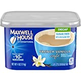 Maxwell House International Decaf Sugar-Free French Vanilla Instant Coffee (4 oz Canisters, Pack of 4)