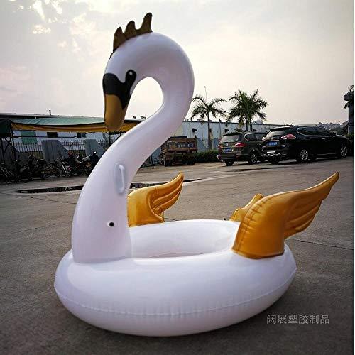 Verano Nuevo Anillo De Natación De Cisne Blanco Juguetes Inflables, Fila De Flotador Reclinable De Agua Flotante para Adultos, Juguetes De Agua - 150 Cm A