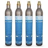 Neues Wasser Group Sprudelux   4 x cilindros de CO2 botellas de CO2 adecuadas para sistema de agua potable Grohe Blue Home! Nuevo y lleno de CO2