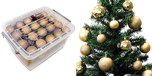 Lot 70 boules de Noël 4/5/6cm - Noel Décoration Sapin - OR - 496