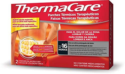 THERMACARE Parche Térmico Terapéutico - 2 parches- Para el Dolor Lumbar y Cadera - Alivio Prolongado del Dolor Hasta 16 Horas - Sin Medicamentos