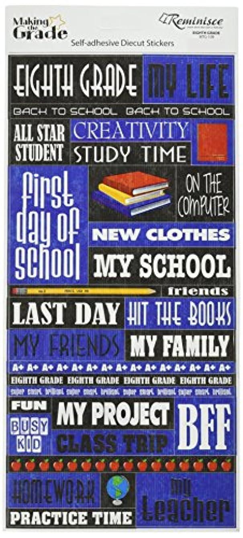 Reminisce Making The Grade Eighth Grade Quote Sticker