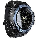 LOKMAT Sports Anolog Digital Smart Watch Men Boys Waterproof Bluetooth Smart Wrist Watch, Smartwatch Walking Calories,Remote Camera, Call/SNS/SMS Reminder iOS Android Smartphone (Blue)