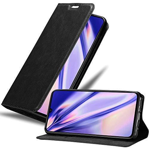 Cadorabo Hülle für Xiaomi Mi 9 in Nacht SCHWARZ - Handyhülle mit Magnetverschluss, Standfunktion & Kartenfach - Hülle Cover Schutzhülle Etui Tasche Book Klapp Style