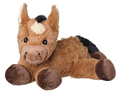 Welliebellies warmteknuffeldier voor kinderen - warmtekussen tegen pijn en om je goed te voelen - weldadige kruidengeur door rozemarijn en lavendel, eucalyptus & pepermunt - groot paard