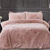 Sleepdown 5056242754640 Juego edredón y Fundas de Almohada (Forro Polar, 200 x 200 cm), Color, Poliéster, Rosa encarnado, Doublé