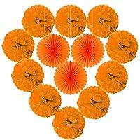 デコレーションパーティー 10個のティッシュポンポンの花ボール混合3個の結婚式の夏のパーティーの子供のための紙のファンお誕生日おめでとうパーティーフェスティバルの装飾