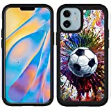 OptiCase iPhone 12 Mini Case - Vintage Soccer Splatter Printed Designer Hybrid Case -Unique Heavy Duty Protection & Shockproof iPhone 12 Mini Case/Cover [5.4']