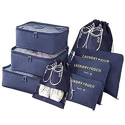 👕Materiale di alta qualità: tessuto impermeabile di rivestimento di alta qualità e maglia impermeabile del poliestere, altamente resistente, impermeabile e antipolvere; 👖Proteggi i tuoi vestiti: inserisci più in valigia, in quanto i sacchetti di vali...