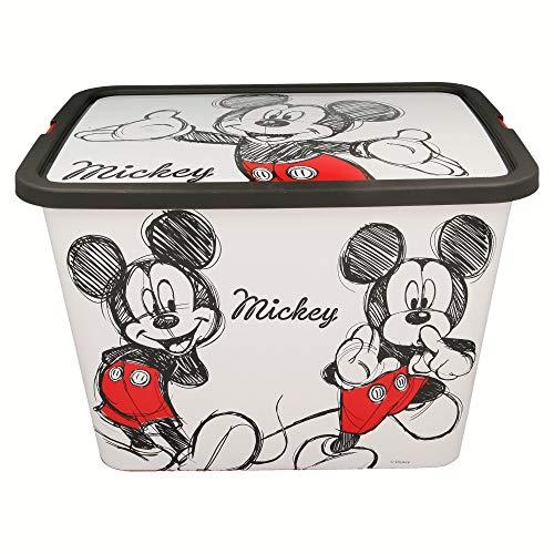 Stor Mickey Mouse- Scatola portaoggetti Click, Colore Nero, Media ST-02646