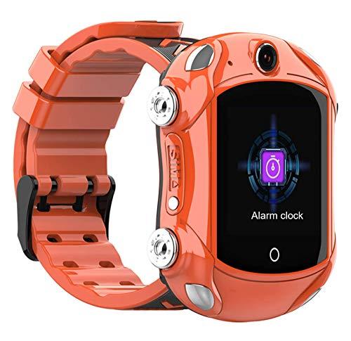 LNLJ 4G Kids Teléfono Smart Watch, Smartwatch De Los Niños con Cámara HD, Cara De Cara, SOS, GPS Y WiFi, IP67, Impermeable, Excelente Apariencia, Niños Y Niñas,Naranja