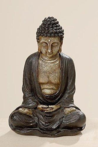 Gardens2you Resistente agli Agenti atmosferici Buddha–Decorazione da Giardino in Resina Effetto Pietra