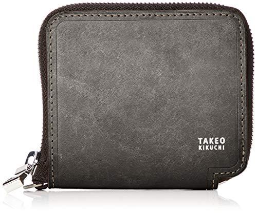 [タケオキクチ] マルゴ小物 小型 ラウンドファスナー 二つ折り財布 780603 クロ