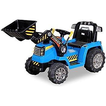 John Deere Ground Force Kinder Elektro Traktor Von Peg Perego 12 Volt Mit Anhanger Amazon De Spielzeug
