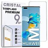 REY Protector de Pantalla para Huawei Mate 40 Pro, Cristal Vidrio Templado Premium