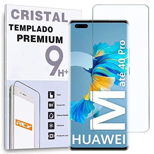 REY Pellicola salvaschermo per Huawei Mate 40 PRO, Vetro temperato, di qualità Premium