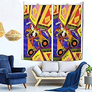 Houtiff Anime & Final & Love and Mystery Tarots by Yoshitaka Amano Xi Justice Art Tapestry Handicraft Party Decoration Banner Garland Event Banner and Home Decoration Green