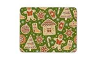 かわいいクリスマスマウスマットパッド-スノーフレークツリーキャンディケインマウスパッドマウスパッド-15450