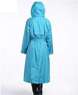 Qivor Waterproof clothing Raincoat, Men's And Women's Casual Windbreaker Raincoat, Walking Outdoor, Zipper Double Layer, N...