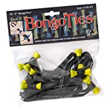 """BongoTies YELLOW & BLACK""""Yellow Tang"""" Bongo Ties ~ 10 Pack""""Style-D"""" ~ HANDY TIES FOR CABLES AND OTHER UNRULY ITEMS"""