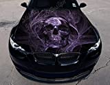 "Stikka Vinyl Car Hood Wrap Full Color Graphics Decal Skull Death's Head Sticker (59""x69"" (150cm x 175cm))"