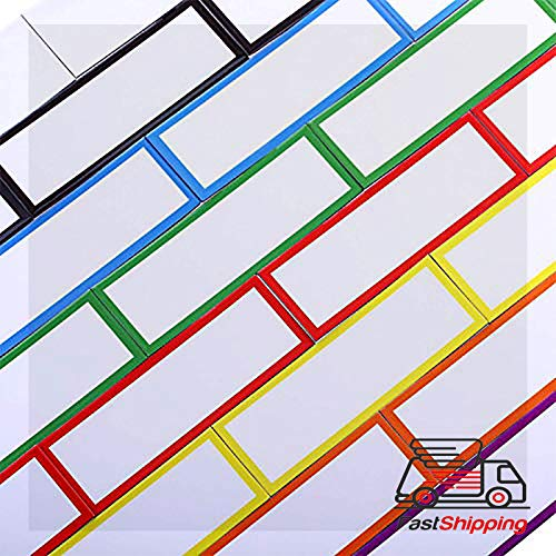 """Knife Hanger - 48 Pieces Magnetic Dry Erase Labels Reusable Writable Erasable Magnetic Strips for Home Office Classroom, Whiteboard, Lockers, Fridge, Name Plate Labels, 8 Colors (1 x 3"""")"""